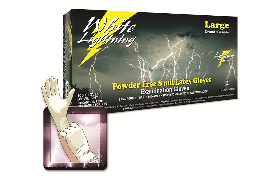 heavy duty white latex gloves